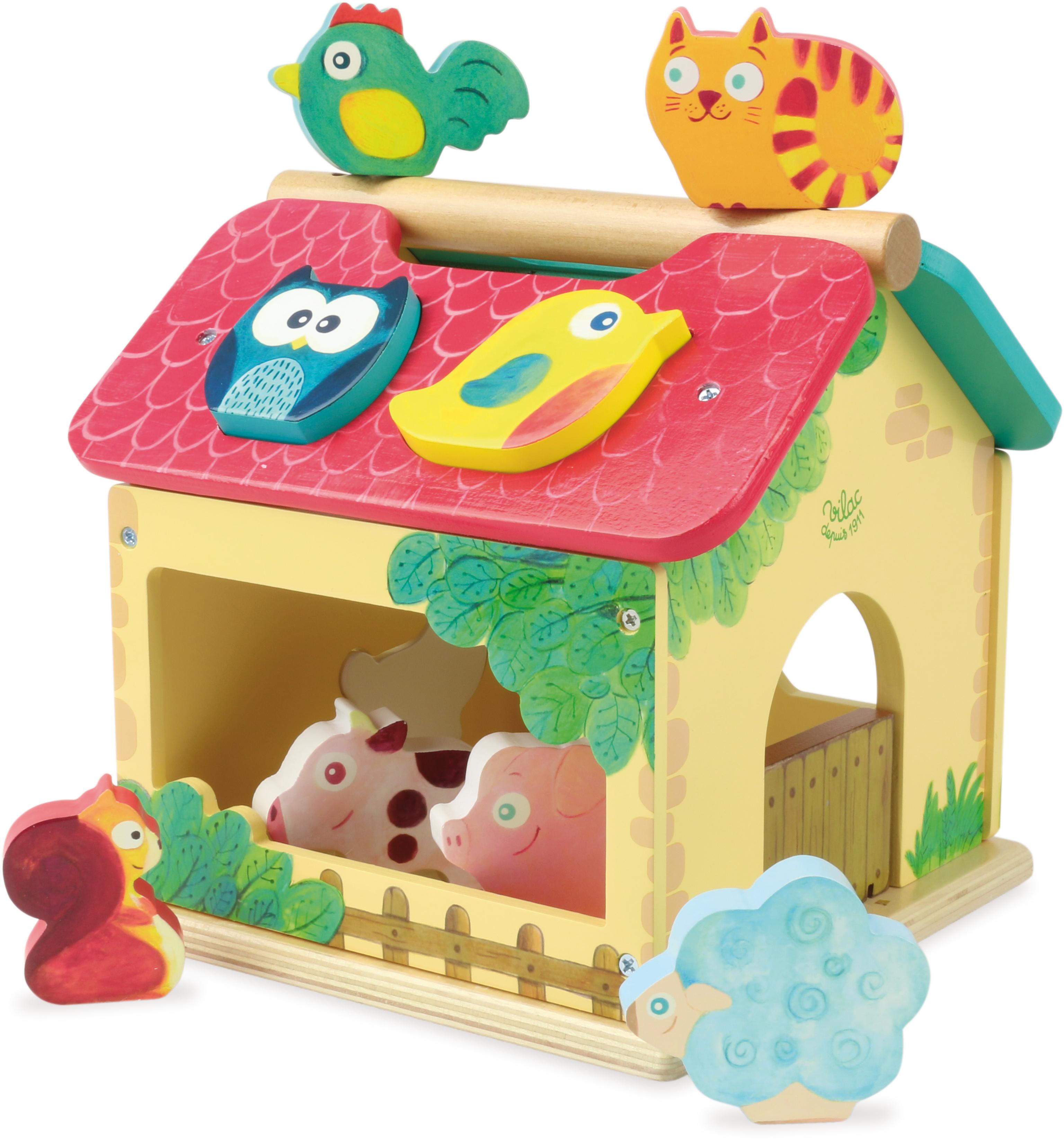Vilac drevená farma - vkladačka so zvieratkami V2475